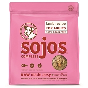 Sojos Complete Lamb Recipe Adult Grain-Free Freeze-Dried Raw Dog Food, 7-lb Bag