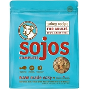 Sojos Complete Turkey Recipe Adult Grain-Free Freeze-Dried Raw Dog Food, 1.75-lb Bag