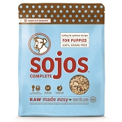 Sojos Complete Turkey & Salmon Puppy Recipe Grain-Free Freeze-Dried Raw Dog Food, 4-lb Bag