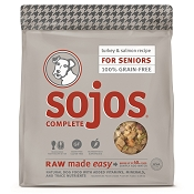 Sojos Complete Turkey & Salmon Recipe Senior Grain-Free Freeze-Dried Raw Dog Food, 7-lb Bag
