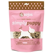 Sojos Simply Beef & Venison Liver Puppy Freeze-Dried Dog Treats, 2.5-oz bag