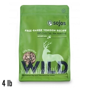 Sojos Wild Free-Range Venison Recipe Freeze-Dried Dog Food, 4 lb Bag