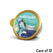 Solid Gold Leaping Waters Chicken, Salmon & Vegetable Recipe in Gravy Grain-Free Small & Medium Breed Dog Food Cups, 3.5-oz cup, case of 12