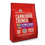 Stella & Chewy's Carnivore Crunch Cage-Free Turkey Recipe Freeze-Dried Raw Dog Treats, 3.25-oz bag