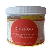 Steve's Real Food DogNog Freeze-Dried Goat Milk and Egg with Dried Cranberries Dog Supplement, 8-oz Refill