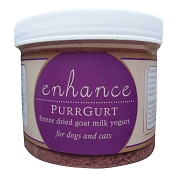 Steve's Real Food Enhance Purrgurt Freeze-Dried Goat Milk Yogurt for Dogs & Cats, 8-oz Refill