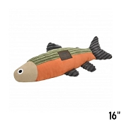 Tall Tails Fish with Squeaker Plush Dog Toy, 16