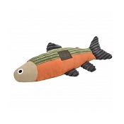 Tall Tails Fish with Squeaker Plush Dog Toy, 12
