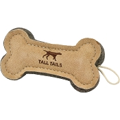 Tall Tails Natural Wool & Leather Bone Dog Toy, 6