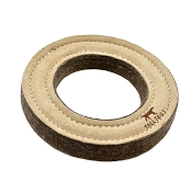 Tall Tails Natural Wool & Leather Ring Dog Toy, 7