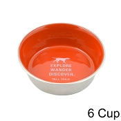 Tall Tails Orange Stainless Steel Dog Bowl, 6 Cup