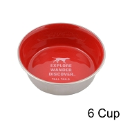 Tall Tails Red Stainless Steel Dog Bowl, 6 Cup