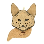 Tall Tails Scrappy Fox Leather & Wool Dog Toy