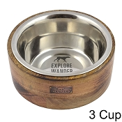 Tall Tails Wood Designer Dog Bowl, 3 Cup