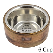 Tall Tails Wood Designer Dog Bowl, 6 Cup