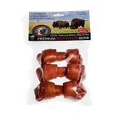 Tasman's Chicken Flavored Bison Rawhide Knotted Bone Dog Chew Small, Pack of 3