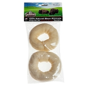 Tasman's Natural Pet Premium Bison Bagels Rawhide Dog Chews, Small
