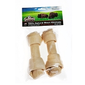 Tasman's Premium Bison Rawhide Knotted Bone Dog Chew Medium, Pack of 2