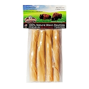 Tasman's Premium Bison Rawhide Twister Dog Chews, Medium 4-Pack