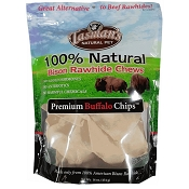 Tasman's Premium Buffalo Chips Rawhide Dog Chews, 1-lb Bag