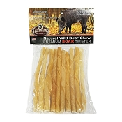 Tasman's Premium Wild Boar Twister Dog Chews, Pack of 10