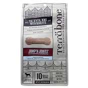 Terrabone Jump' N Joints Edible Dental Bones for Dogs, 10 Medium Bones