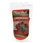 Real Meat Air-Dried Duck Neckers Dog Treats. 6-oz Bag