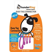 ThunderRing Easy Tag Connectors for Dog Tags  (4 Rings), Pink