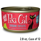 Tiki Cat Bora Bora Grill Sardine Cutlets in Lobster Consomme Canned Cat Food, 2.8-oz Case