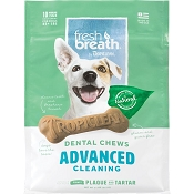 TropiClean Fresh Breath Advanced Cleaning Dental Chews, Regular