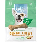 TropiClean Fresh Breath Advanced Cleaning Peanut Butter Flavor Dental Chews, Small (COPY)
