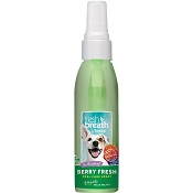 TropiClean Fresh Breath Berry Fresh Oral Care Spray for Dogs, 4-oz
