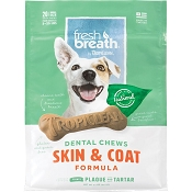 TropiClean Fresh Breath Dental Chews Skin & Coat Formula Dog Chews, Small