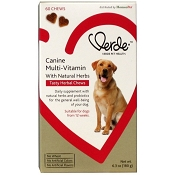 Verde Canine Multi-Vitamin Tasty Herbal Chews Dog Supplement, 60-Count
