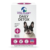 Vital Planet Daily Detox Chewable Tablets for Dogs, 60 Count