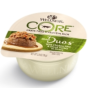 Wellness Divine Duos with Chicken Pate & Diced Turkey Grain-Free Wet Cat Food, 2.8-oz, case of 12