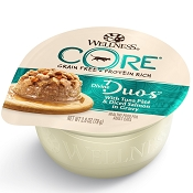 Wellness Divine Duos with Tuna Pate & Diced Salmon Grain-Free Wet Cat Food, 2.8-oz, case of 12