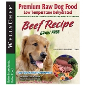 WellyTails Beef Recipe Dehydrated Dog Food, 2-lb