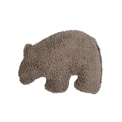 West Paw Big Sky Grizzly USA Plush Dog Toy, Small, Chocolate