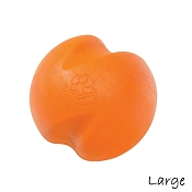 West Paw Zogoflex Jive Ball Dog Toy, Tangerine, Large