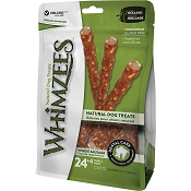 WHIMZEES Veggie Sausage Dental Dog Treats, Small, 28 Count
