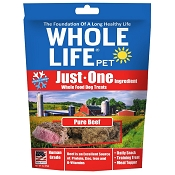 Whole Life Just One Ingredient Pure Beef Freeze-Dried Dog Treats, 3-oz Bag