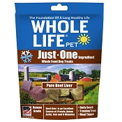 Whole Life Just One Ingredient Pure Beef Liver Freeze-Dried Dog Treats, 4-oz Bag