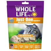 Whole Life Just One Ingredient Pure Chicken Breast Freeze-Dried Cat Treats, 3-oz Bag