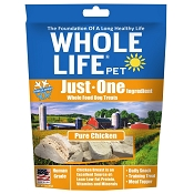 Whole Life Just One Ingredient Pure Chicken Freeze-Dried Dog Treats, 3-oz Bag