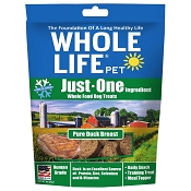 Whole Life Just One Ingredient Pure Duck Breast Freeze-Dried Dog Treats, 3-oz Bag