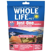 Whole Life Just One Ingredient Pure Salmon Fillet Freeze-Dried Dog Treats, 2-oz Bag