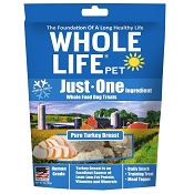 Whole Life Just One Ingredient Pure Turkey Breast Freeze-Dried Dog Treats, 3-oz Bag