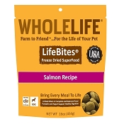 Whole Life LifeBites Salmon Recipe Freeze-Dried Dog Food, 16-oz bag