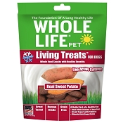 Whole Life Living Treats Sweet Potato Recipe Dog Treats, 3-oz bag